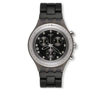 Swatch Quarzuhr Unisex Full-Blooded Stoneheart Silver  43 mm