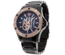 DETOMASO Herren-Armbanduhr Man Carrara Analog Automatik DT1018-B