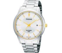 Uhren Herren-Armbanduhr XL Klassik Analog Quarz Edelstahl PS9053X1