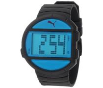 Herren-Armbanduhr Half Time L Black Blue Digital Quarz Plastik PU910891001