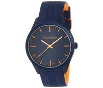 Calvin Klein Unisex-Armbanduhr Analog Quarz Kautschuk K5E51GVN