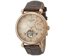 Herren- Armbanduhr ,ES-8046-03,Braun (Rose Gold dial)