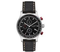 Herren-Armbanduhr LW33 Analog Quarz Leder 133SBDBL