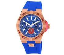 Men'Armbanduhr Analog, Kunstharz, blau, VC 1010BLRG