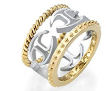 Damen-Ring PURE Edelstahl teilvergoldet SCAGE03014
