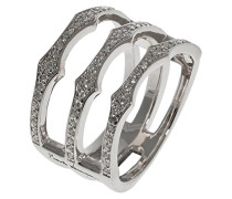 Sterling Silber Triple Spear Band Ring