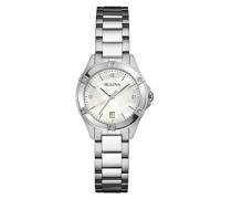 Bulova Damen-Armbanduhr Diamonds Analog Quarz Edelstahl 96W205