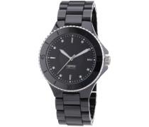 Esprit Damen-Armbanduhr Eirene black Analog Quarz Keramik EL101322F15