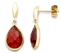 Damen-Ohrringe 9 Karat (375) Gelbgold Hessonit Tropfen facettiert