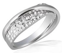 Averdin Damen-Ring gehämmert 925 Silber