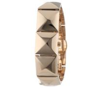 Damen Quarzuhr mit Gold Zifferblatt Analog-Anzeige und Gold Armband VC/5058chgb