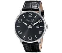 ikc8005Herren Uhr mit Kautschuk-Armband, Schwarz/Grau