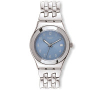 Swatch Damen-Armbanduhr Follow Ways Hell Blau YLS439G