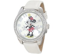 Disney by Ingersoll Damen-Armbanduhr Analog Formgehäuse Silber 25741