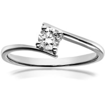 Damen-Ring 18 K Weißgold Diamant 0,25 ct