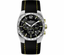 Herren-Armbanduhr XL Sport Chronograph Quarz Leder 1-1688E