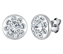 Damen Ohrstecker 925 Sterling Silber Swarovski Kristall weiß Brillantschliff 0305841815