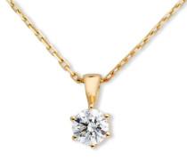 Miore MC006PYD 18 Karat (750) Gelbgold Solitr Halskette mit IGI Zertifikat fr Brillant 0,50 Ct 45cm
