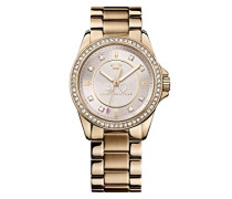 Juicy Couture Damen-Armbanduhr Analog Quarz Gold 1901077