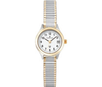 Certus-622549Damen-Armbanduhr 045J699Analog weiß Armband Metall Zweifarbig