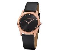 Regent Damen-Armbanduhr XS Analog Quarz Leder 12100586