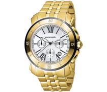 Herren-Armbanduhr Monaco Evolution Chronograph Quarz Edelstahl PC100721S02