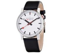 Mondaine Herren-Armbanduhr SBB Evo Alarm 40mm Analog Quarz A4683035211SBB