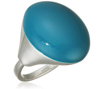 Jewelry Damen-Ring Messing  Damen-Ring aus der Serie Enamel world Versilbert, Türkis 2.0 cm 251336904