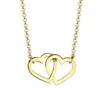 Damen-Kette mit Anhänger Herz 925 Silber 45 cm - 0110290814_45