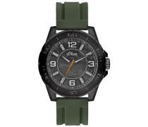 s.Oliver Herren-Armbanduhr Analog Quarz schwarz SO-2221-PQ