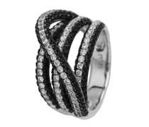 Burgmeister Jewelry Damen-Ring 925 Sterling Silber rhodiniert Zirkonia Gr. 60 (19.1) JBM2002-111-19