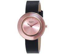 Damen-Armbanduhr XS Analog Quarz Leder 12100582