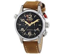 Herren-Armbanduhr XL Lawrence Chronograph Automatik Leder IN3218BK