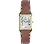 Michel Herbelin Damen-Armbanduhr 17478/P22GO Damen-Armband, Leder, Farbe: braun
