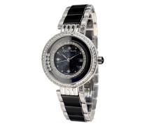 Damen Armbanduhr - Analog Quarz - Premium Keramik Armband - Perlmutt Zifferblatt - Diamanten und Swarovski Elemente - STM15SM14