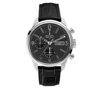 Herren-Armbanduhr Chronograph Automatik Leder 63C115