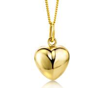 Damen-Halskette 375 Gelbgold Herz Anhänger 45cm MA961CHN
