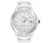 s.Oliver Herren-Armbanduhr XL Analog Quarz Silikon SO-2678-PQ