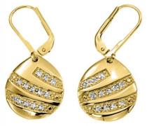 Damen-D33002Z-Talisman Damen-Ohrringe vergoldet, Zirkonoxid