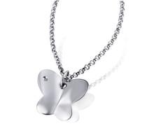 Damen-Halskette Schmetterling 925 Sterlingsilber 1 Diamant Kettenanhänger Schmuck Diamantkette