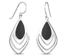 Damen-Ohrhänger Feder 925 Sterling Silber 3201463