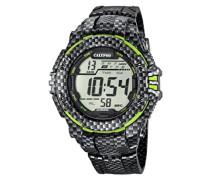 Herren Digitale Armbanduhr mit LCD Dial Digital Display und Kunststoff-Gurt k5681/6