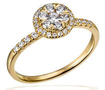 Ring 585 Gelbgold Diamant (0.46 ct) weiß Brillantschliff - Pa R7694GG