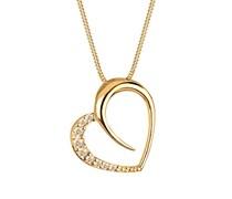 Goldhimmel Damen Halskette 925 Sterling Silber mit Swarovski Kristallen 45 cm gold 0111812213_45