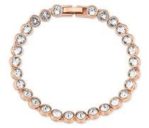Damen-Armband 19,5 cm Messing Kristall weiß - 9372232
