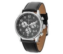 Herren-Armbanduhr Chronograph Quarz Leder JG5500-23