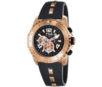 Herren-Armbanduhr XL Abyss Analog Leder FA0982-92