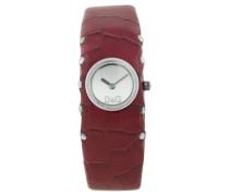 Damen-Armbanduhr COTTAGE SS SLV DIAL RED STRAP DW0355