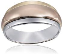 Damen-Ring Tricolor Hochglanz 375 Gold