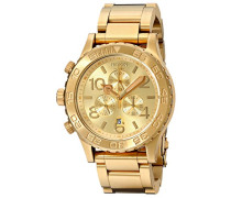 Unisex-Armbanduhr 42-20 Chrono Chronograph Quarz Edelstahl beschichtet A037502-00